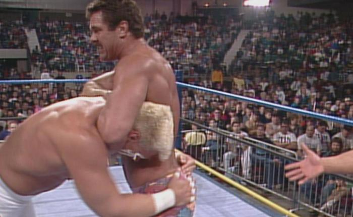 365 Wrestling, Day 21: Ricky Steamboat & Sting vs. Rick Rude & Steve Austin (WCW Clash of the Champions XVIII,1/21/92)